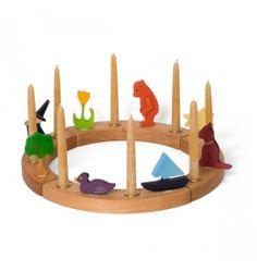 Nova Natural Toys + Crafts - Living - 16 Hole Birthday Ring Set