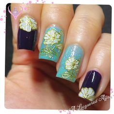 Gold 3D Flowers Nail Stickers by Born Pretty Store #holidaymani #cute #black #floral #nailart - bellashoot.com