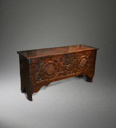 Tudor carved chest
