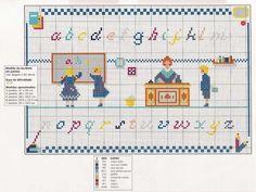 0 point de croix grille ancienne école enfants
