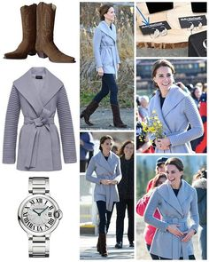 """◇28 September 2016◇ □ Outfit info □  The Duke and Duchess of Cambridge carried out several engagements tin Carcross a town of less than 300 residents and Montana Mountain. (I'll post the information of all their engagements carried out over thier in my next post) The Duchess wore the Wrap Coat with Ribbed Sleevesfrom Canada'sSentalerbrand- it has now been renamed the'Kate Coat'. The $920 'gull' coloured coat is described: """"This double-faced superfine alpaca wrap coat has the Sentaler…"""