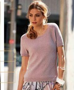 Классический вязаный пуловер