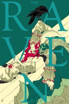 Edgar Allan Poe's The Raven illustration by Tomer Hanuka Art And Illustration, Illustrations And Posters, Tomer Hanuka, Street Art, Silk Screen Printing, Comic Book Artists, Pretty Art, Comic Art, Illustrators