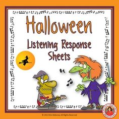 a list of halloween music resources for the classroom that are both fun and educational listening journal response sheets as well as theory worksheets - List Of Halloween Music