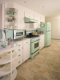 Pops of Pastel #homedecor #kitchens #vintage