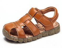 DADAWEN Boy's Girl's Closed Toe Outdoor Sandal (Toddler/Little Kid/Big Kid) #affiliate