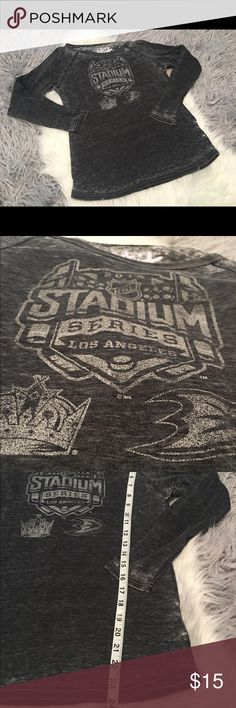 Touch by Alyssa Milano 2014 NHL Stadium Tee Burnout tee. Excellent used condition, Touch By Alyssa Milano Tops Tees - Long Sleeve