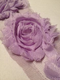 Lavender Chiffon Flowers by MonAmiePaperie on Etsy, $5.44