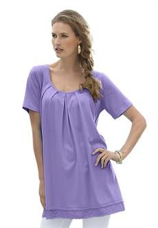 Discount On Lace Hem A-Line Tunic