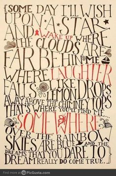 Somewhere over the rainboww