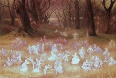 """oldpaintings: """" The Haunted Park by Richard Doyle (English, 1824–1883) """""""