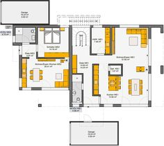 Prefab house corradino ground plan of the ec Rattan Garden Furniture, Prefab Homes, Future House, Bungalow, House Plans, Sweet Home, Floor Plans, Layout, How To Plan