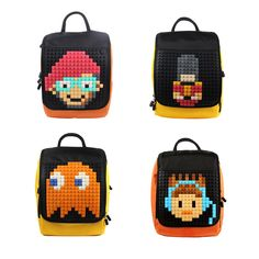 Designer Backpack   Upixel bags, backpacks & accessories Australia. Fun Fun Fun! Diy Create your own designs with 24 colours pixel chips only your mind is the limit!