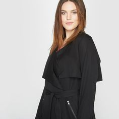 Trench suave em Lyocell Trench, Fashion, Woman, Moda, Fasion
