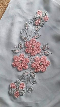 Knitting and crocheting hand embroidery blouse designs simple, hand embroidery designs for kurti border, hand embroidery blouse, hand embroidery stitches free patt Embroidery On Kurtis, Hand Embroidery Dress, Hand Embroidery Videos, Couture Embroidery, Learn Embroidery, Beaded Embroidery, Zardozi Embroidery, Kurti Embroidery Design, Embroidery Letters