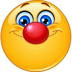 Emoticon with clown nose. Happy emoticon with clown nose vector illustration Emoticon Feliz, Happy Emoticon, Emoticon Faces, Smiley Faces, Smiley Emoji, Images Emoji, Emoji Pictures, Funny Emoji Faces, Funny Emoticons