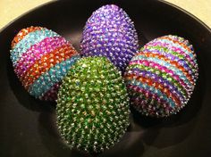 Sequin & Beaded Easter Eggs   by Id & Ego Creations