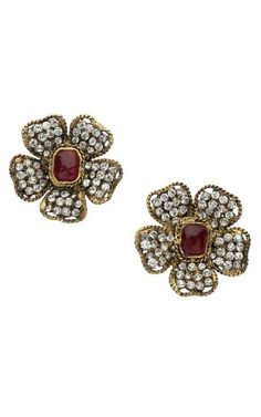 Chanel Gripoix Flower Earring by New York Vintage for Preorder on Moda Operandi