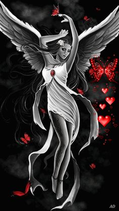 Angel and butterfly