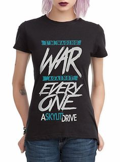 A Skylit Drive War Girls T-Shirt | Hot Topic I have got to have this!!! O.O