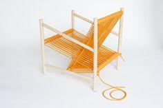 Loom Chair by Laura Carwardine #rope #wood #chair #design #line
