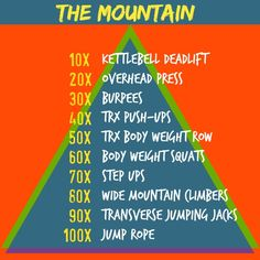 Need a killer new workout? Try THE MOUNTAIN!