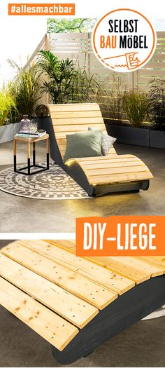DIY-Liege selber bauen You are missing a suitable idea for the holiday feeling at home? Build your own DIY lounger.