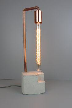 Lampe NF-132 Lighting Ideas, Lighting Design, Diy, Lights, Home Decor, Copper, Log Projects, Cement, Interior Design