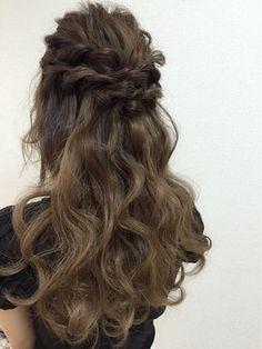 【2016年冬】ねじりハーフアップ/hairmake salon Beautopia 【ヘアメイクサロン ビュートピア】のヘアスタイル