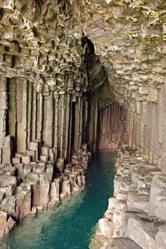 Fingal's Cave, Scotland | a sea cave on the uninhabited island of Staffa, known for its natural acoustics and hexagonal columns of basalt and lava flow