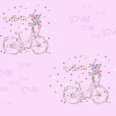 Bici love | Diseños de marikilla | ilatela.com - imprime tus sueños en tela