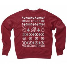 WSU Ugly Christmas Sweater #GoCougs #WSU #Christmas