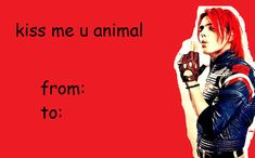 my chemical romance funny Bad Valentines, Funny Valentine, Valentine Day Cards, Emo Bands, Music Bands, Black Parade, Frank Iero, Band Memes, Gerard Way