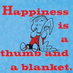 Happiness is a thumb and a blanket
