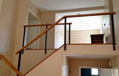 Black Railing Posts with Stainless Cable - modern - products - san diego - San Diego Cable Railings