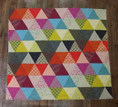 Fancy Tiger Crafts: Pyramid Pals! Three Chicopee Quilts (+ Tutorial!) I think this should be my first quilt I attempt...