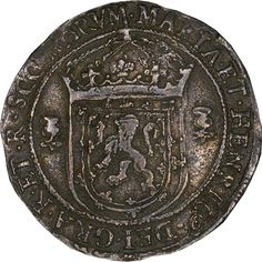 1565: silver 1/3 ryal issued during the ill-fated marriage of Mary Queen of Scots and Henry Stuart, Lord Darnley