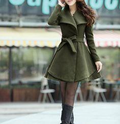 4 colors women's Princess style cape dress Coat by colorstore2011, $88.99