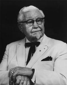 """""""September 1890 - Colonel Sanders the founder of Kentucky Fried Chicken (KFC) is born in Henryville, Indiana,"""" Kfc Chicken Recipe, Fried Chicken, Chicken Recipes, How To Dry Oregano, How To Dry Basil, Famous Entrepreneurs, Colonel Sanders, Kentucky Fried, Feeling Like A Failure"""