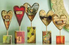 Joyful Nest Heart Sculptures by Lisa Kaus for DEMDACO at Fiddlesticks