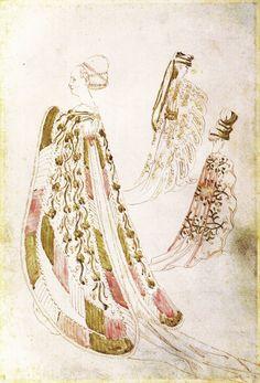 Antonio di Puccio Pisano, il Pisanello  Studi di costumi, XV d.C. (15th cent)…