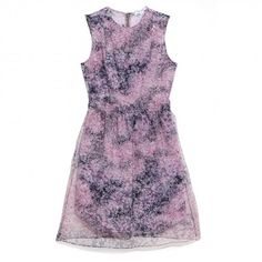 Carven	Organza Printed Dress