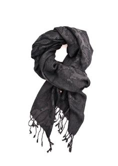 53cff2a7ec Anika Dali Men's Python Pattern Scarf with Tassels, Silky Soft (Black/Grey/Brown)  at Amazon Men's Clothing store: Fashion Scarves
