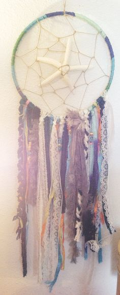 Ocean Themed Dream Catcher by yours truly :) I'm doing customs if you guys want as well xoxo
