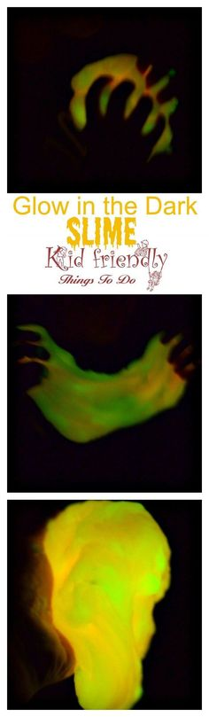 How To Make Glow In The Dark Slime Using An Easy 4 Ingredient Recipe