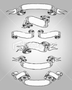 Hand Drawn Banners Set Royalty Free Stock Vector Art Illustration