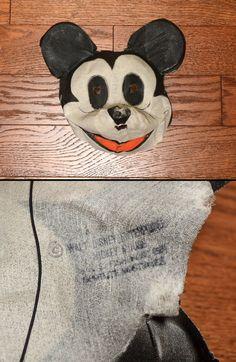 vintage Mickey Mouse costume 30s Spotlite Costumes mesh gauze