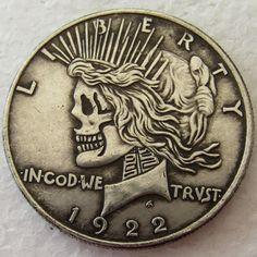 US 1887 Morgan Dollar Skull Zombie Skeleton High Quality Coin
