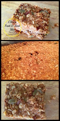 Chewy Fruit & Seed Slice - Fancy for Homemade Muesli Bars. Better than the store bought ones with all the added nasties - these are cheap, quick and delicious. Perfect for lunch boxes and snacks.