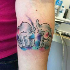 @lucasscormier Little watercolor elephants